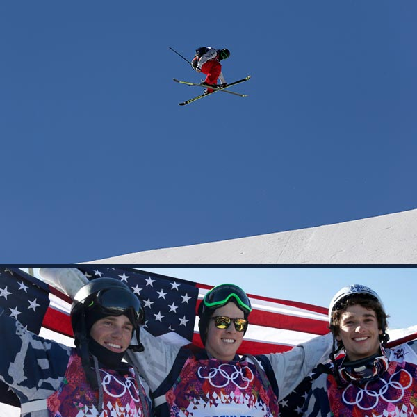 Joss Christensen wins gold, leads US sweep in slopestyle skiing By WILL GRAVES   KRASNAYA POLYANA, Russia &#40;AP&#41; - Don&#39;t worry, Team USA. The shredder kids have your back.  Americans Joss Christensen, Gus Kenworthy and Nick Goepper swept the podium in men&#39;s slopestyle skiing Thursday, putting on a spectacular show to boost America&#39;s lagging medal count and provide the U.S. team with a jolt from a mountain whose vibe is more spring break than Winter Olympics.  &#34;I am shocked,&#34; Christensen said. &#34;I am stoked to be up here with my friends. America, we did it.&#34;  With style and dominance to spare.  The podium sweep was just the third for the U.S. in Winter Olympic history, joining men&#39;s figure skating in 1956 and men&#39;s halfpipe snowboarding in 2002. All four U.S. gold medals in Sochi have come at Rosa Khutor Extreme Park, and Thursday&#39;s haul came 15 hours after Kaitlyn Farrington and Kelly Clark grabbed gold and bronze in women&#39;s halfpipe snowboarding.  &#34;It&#39;s crazy,&#34; Goepper said. &#34;I think it&#39;s going to give the U.S. a lot more confidence and it&#39;s going to get a lot of people really excited.&#34;  The Americans were certainly fired up.  Goepper and Kenworthy raised Christensen on their shoulders following what amounted to a victory lap during Christensen&#39;s last run down the mountain. The good friends wore flags as capes in the giddy aftermath of their victory in the sport&#39;s Olympic debut.  Christensen was the last slopestyle skier named to the Olympic team, getting the nod over, among others, former world champion Tom Wallisch. The 22-year-old from Park City, Utah, was easily the best on a sun-splashed day where the weather was so warm that teammate Bobby Brown - who finished ninth - wore only a T-shirt in the finals.  It&#39;s that kind of easy, breeze attitude that permeates a sport predicated on having a good time and testing the limits of what is possible. Nobody is closer to that limit than a U.S. team that has clearly separated itself from the rest of the world.  &#34;It&#39;s the kind of thing you don&#39;t even let yourself think about,&#34; U.S. coach Skogen Sprang said of the medal sweep. &#34;I still don&#39;t believe it happened.&#34;  To be honest, neither could Christensen. He came to Russia hoping to find a spot on the podium. Instead, he owned it, throwing down four practically flawless runs over the series of rails and jumps that are the equivalent of a skier&#39;s playground.  He led qualifying and insisted he had plenty left for the finals.  Christensen&#39;s three off-axis jumps at the end of his first qualifying run totaled 10 full spins in the span of 15 seconds - all coming while he skied over the ramp backward. His first run in the finals won the gold, and his second would have been good enough to win silver.  &#34;I can&#39;t believe we made it,&#34; Christensen said. &#34;It&#39;s been a long journey.&#34;  A painful one, too. Christensen lost his father J.D. in August and got the news while training in New Zealand. The last six months have been a mix of grieving and renewed focus for a skier whose lengthy list of injuries includes a pair of broken wrists and microfracture surgery in his knee.  It all slowed Christensen, but didn&#39;t stop him.  &#34;I hope I made my father proud,&#34; he said. &#34;Through all the injuries I&#39;ve had, he&#39;s always supported me and never said stop. I Hope he&#39;s looking down and smiling. Did it for him.&#34;  Christensen&#39;s first run in the finals produced a 95.80, giving the rest of the 12-man field a target to beat. None could top the kid with the floppy blonde hair and easy smile that seems to embody a sport that often looks like it&#39;s just a bunch of guys taking turns showing off.  Kenworthy, from Telluride, Colo., was already planning to head back home with a family of stray dogs that call the streets of Sochi home. Now they&#39;ll have some company - a silver medal. He raised his arms over his head after his second finals run and busted out laughing when his score of 93.60 was revealed.   Goepper, the gold medal favorite from Lawrenceburg, Ind., dropped a 92.40 during his first finals run but couldn&#39;t top it in the second. He smacked his skis against the second rail feature, ending his chance of leapfrogging Christensen.  Not that it mattered.  &#34;I feel amazing,&#34; he said. &#34;I think today was the best display of skiing we have ever seen in our sport, so I am so happy.&#34;  Norway&#39;s Andreas Haatveit was the final skier with a chance to break the U.S.&#39;s grip on the podium. While his last trip was slick, he seemed to know he would come up short he crossed the finish line. Haatveit put his hands together as if to pray, then shrugged and gave the Americans a push when he ended up fourth.  With a gold medal assured, Christensen didn&#39;t exactly take it easy on his final run.  Twisting and flipping his way to his teammates, he pumped his arms in celebration. When his score was posted, the roar quickly morphed into chants of &#34;USA! USA!&#34;  &#34;Just competing for the U.S. is so cool,&#34; Christensen said. &#34;We&#39;re all representing. All our stuff has USA on it. It&#39;s not like a normal team that we&#39;re used to. We can be proud to be on this team. Today was a good showing of our sport. Hopefully world recognizes how much fun we&#39;re having.&#34; <span class=meta>(AP Photo &#47; Andy Wong &#47; Gero Breloer)</span>