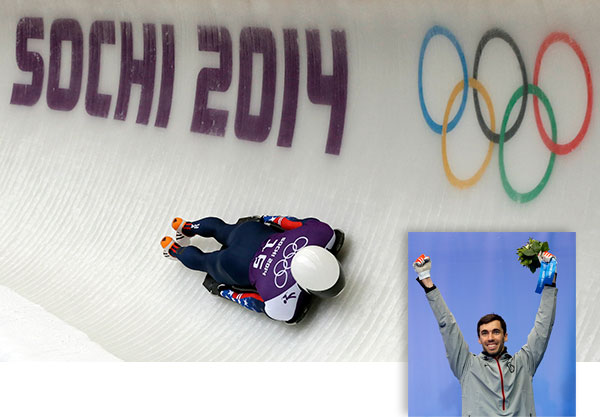 "<div class=""meta ""><span class=""caption-text "">Matt Antoine wins bronze in Men's Skeleton By TOM WITHERS   KRASNAYA POLYANA, Russia (AP) - One year after a giant meteor streaked across Russia's sky, Alexander Tretiakov flashed by.  Accelerating down his home track lined from top to bottom with flag-waving, chanting countrymen, Tretiakov won the Olympic gold medal in men's skeleton on Saturday night, pulling away from the world's top sliders who were no match for his breakneck speed and precise driving.  Tretiakov completed four trips down the Sanki Sliding Center track in 3 minutes, 44.29 seconds, easily beating Latvia's Martins Dukurs (3:45.10), who settled for silver again after having gold slip from his hands four years ago in Vancouver.  Matt Antoine won the bronze, the first skeleton medal for an American man since Jimmy Shea's gold in 2002. John Daly of Smithtown, N.Y., entered the final run in fourth place, but slipped on the starting ramp and had his sled pop from the grooves. He dropped to 15th.  With cries of ""Ro-ssi-ya, Ro-ssi-ya,"" echoing off the mountain and toward the ski resort area down below, Tretiakov won the host nation's fourth gold of the Sochi Games.  And with the performance Tretiakov, the bronze medalist in Vancouver, is set to receive a reward from the heavens.  On Feb. 15 last year, a meteroite zoomed over Russia's Ural Mountains, causing a sonic boom and exploding over the city of Chelyabinsk. A piece of the space rock was recovered by scientists, and fragments of that have been embedded in commemorative medals that a regional government is offering the winners of seven Olympic events staged on the anniversary.  Fitting for the ""Russian Rocket.""  ""This is a very important medal, it's a real medal and I'm happy to win it for my country,"" Tretiakov said of his Olympic gold.  After two blistering runs on Friday, Tretiakov began the third heat with a 0.56-second lead over Dukurs, who had been reminded of his near miss for gold in Vancouver all week. Dukurs led after three runs in Whistler, but the two-time world champion was caught in the final heat by Canada's Jon Montgomery, another hometown favorite.  Skeleton's best slider for several years, Dukurs, who won six of eight World Cup events this season, had learned the hard way that no lead is safe, and nothing is guaranteed until the last man is across the finish line.  Tretiakov, though, wasn't slowing down for anyone.  Matching his start record (4.47) for the third consecutive heat, he completed his third run in 56.28 seconds, and as Dukurs waited for his turn to go he had to know deep down that the race was over.  Dukurs, who has won 24 of the past 28 World Cup events, managed to trim 0.02 seconds off Tretiakov's margin on his third run, but needing to make up more than a half-second on his last descent was asking way too much.  ""I didn't like make up illusions that I will come here and win the gold,"" said Dukurs, who was trying to win Latvia's first gold at the Winter Games. ""I was aiming for four good runs, and what comes out of that, we will see.""  Daly and Antoine, good buddies and Olympic roommates, were separated by just 0.04 seconds after the third heat.  But Daly, perhaps feeling the pressure, was out of the medal picture just steps into his final run. His sled jumped from the grooves and skittered sideways. Daly was able to get his sled straightened out, but by the time he did, the bronze was long gone.  After stopping in the finish area, he buried his head in his hands.  ""I knew I had to go for it, so I went for it and it bit me,"" he said. ""The blame is totally on me.""  Antoine, of Prairie du Chien, Wis., then put together a clean run, finishing in 56.73 seconds to beat Latvia's Tomass Dukurs, Martins' brother, for bronze.  ""it's the greatest moment of my life, without a doubt,"" he said.  Daly and Antoine broke into the sport together, drawn to skeleton for its speed and danger after being inspired by Shea's storybook win in at the Salt Lake City Games.  As thrilled as he was by his medal, Antoine hurt for Daly.  ""I didn't see it,"" he said. ""But when I was walking up to the line, I heard all the groans. I knew something bad had happened. ... My heart really goes out to John for the way that ended for him.""   (Natacha Pisarenko)</span></div>"