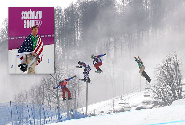Alex Deibold wins bronze in Men&#39;s Olympic Snowboardcross By WILL GRAVES  KRASNAYA POLYANA, Russia &#40;AP&#41; - Pierre Vaultier stood atop the podium, feeling no pain from a knee held together by little more than a brace and cheek-biting grit.  Nikolay Olyunin, the 22-year-old underdog standing to his right, was quite content after giving the host country a good glimpse of his profession.  To their left, bronze medalist Alex Deibold was soaking up the attention of the U.S. team.  Behind them all, the favorites were washed away by bad luck, bad decisions - or both - on a course that deteriorated into a slushy, soggy snowball.  In other words, just another Tuesday in snowboardcross, the Olympic sport that sometimes is little more than a high-stakes lottery held at upward of 50 mph &#40;80 kph&#41; down the side of a mountain.  The jousting in front of Vaultier during the semifinals nearly cost him a shot at a medal. Apart from that, there was the relentless pursuit by Russia&#39;s Olyunin, the man with the fastest board on a day when speed was in short supply. And the persistence of former wax technician Deibold, who buried four years of angst - and a teammate - on his way to salvaging a bit of American pride.  Vaultier stood above them all on a right knee with an ACL one wrong move away from a career-threatening implosion. Funny how the pain seemed to vanish the moment the 26-year-old crossed the finish line.  &#34;I think I took off on the last jump and I did not land yet,&#34; he said.  Happy landings were hard to come by in the rain at Rosa Khutor Extreme Park. Instead of the bluebird conditions that can feature the sometimes breathtaking mix of speed and precision snowboardcross provides, the third contest in the sport&#39;s brief Olympic history was a battle of attrition.  Gold-medal favorite Nate Holland of the U.S. didn&#39;t make it out of the opening round of elimination after mistiming a jump.  Italy&#39;s Omar Visintin loomed as a threat until colliding with Australia&#39;s Jarryd Hughes in the semifinals, going head-first over a pair of step-down ramps and being taken off on a stretcher.  Taylor Jacob, the youngest and perhaps most naturally gifted rider on the U.S. team, saw his spot in the finals taken by Deibold, who edged Jacob aside at the finish after both spectacularly slid across the line on their backs.  The event was pushed back from Monday to Tuesday due to heavy fog. Conditions weren&#39;t much better 24 hours later as the drizzle slowed the 750-meter track, making passing difficult and put the ability to get out of the gates quickly at a premium.  &#34;We compete in an outdoor sport, this is not something that uncommon,&#34; Deibold said. &#34;It&#39;s one of the situations we prep ourselves for.&#34;  Nobody was better than Vaultier and Olyunin, who led nearly wire to wire in his three races before the finals. He wasn&#39;t quite as sharp when the gate dropped in the medal round as Vaultier sprinted to the front then fended him off three times before pulling away over the last two jumps.  &#34;He is the embodiment of snowboardcross,&#34; Olyunin said of Vaultier. &#34;He is created for this and he deserved the medal.&#34;  So did Olyunin, who seemed overcome by the prospect of being only the second Russian to win a medal with a snowboard attached to the bottom of their boots.  Though he considers himself a bit of a &#34;pioneer,&#34; Olyunin is still in the early stages of his career. He began the day ranked 20th in the world and ended it as the face of his sport in his homeland.  &#34;I really want to be alone, I&#39;m so tired,&#34; Olyunin said. &#34;Those delays, they really tired me. Yesterday was really hard for me but I decided ... to prove to Russia, that snowboarding does exist.&#34;  Vaultier did his best to minimize the danger. While the early heats sometimes looked like a parade as riders simply tried to grab one of the top three spots to advance, things became more contentious as the field dwindled from 39 to 24 to 12 to six.  One quarterfinal race contained a three-rider pileup. The first semifinal included Deibold and Jacob racing side by side, with Deibold accidentally hitting Jacob in the groin as his teammate tried to steady himself as they soared over a jump.  There was no intent involved. There rarely is in a sport that relies heavily on trust to keep the chaos from getting out of hand.  Deibold edged Jacob then sprinted to bronze, the painful memories of when he served as a wax technician - grunt work really - for the Olympic team after failing to qualify evaporating in the process.  &#34;I&#39;m going to enjoy not waxing my snowboard for awhile,&#34; he said with a laugh.  So will Vaultier, who won&#39;t decide whether to have the ACL he injured two months ago repaired until after meeting with his surgeon. Maybe he&#39;ll just keep it in the brace for the time being. Seemed to work in the biggest race of his life.  &#34;Right now I feel OK,&#34; he said. &#34;It&#39;s even better with a gold medal.&#34;  ------ Main Image: Gold medalist Pierre Vaultier of France, left, leads ahead of, from left to right, silver medalist Nikolai Olyunin of Russia, Paul?-Henri de le Rue of France, and silver medalist Alex Deibold of the United States, in the men&#39;s snowboard cross final at the Rosa Khutor Extreme Park, at the 2014 Winter Olympics, Tuesday, Feb. 18, 2014, in Krasnaya Polyana, Russia. &#40;AP Photo&#47;Sergei Grits&#41;  Upper Left: Bronze medalist Alex Deibold of the United States walks to a flower ceremony after the men&#39;s snowboard cross final at the Rosa Khutor Extreme Park, at the 2014 Winter Olympics, Tuesday, Feb. 18, 2014, in Krasnaya Polyana, Russia.&#40;AP Photo&#47;Sergei Grits&#41;  <span class=meta>(AP&#47;Sergei Grits)</span>