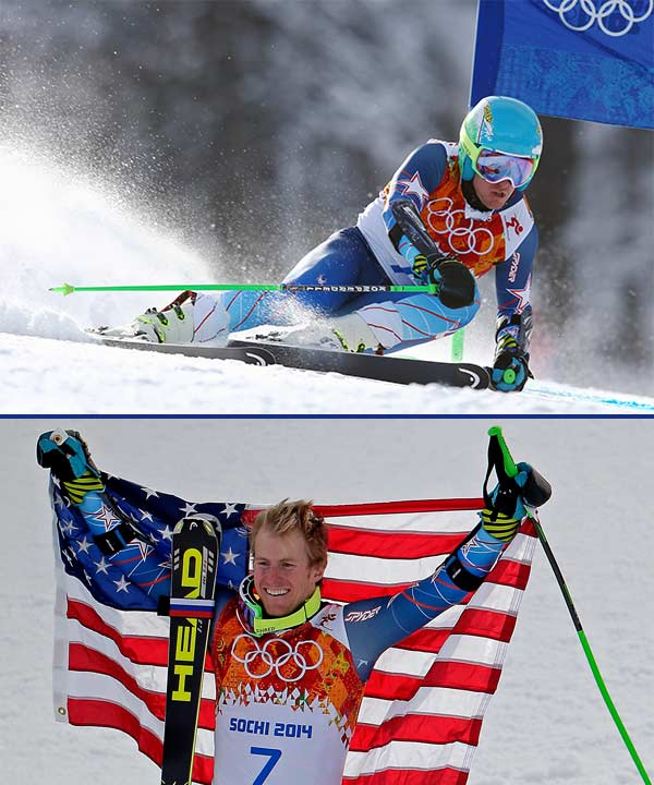 Ted Ligety dominates for gold in Olympic giant slalom By ANDREW DAMPF  KRASNAYA POLYANA, Russia &#40;AP&#41; - Ted Ligety has created his own, unique way of skiing. And now, he&#39;s in pretty elite company.  Carving turns like nobody else, Ligety established a huge first-run lead and then comfortably held on to win the giant slalom at the Sochi Games on Wednesday, becoming the first American man to win two Olympic gold medals in Alpine skiing.  &#34;To be able to throw it down in the event I had the most pressure in, and the event I was the favorite in - to be able to do that is awesome,&#34; Ligety said. &#34;This was really the event that I wanted to win. ... I know where I stand in giant slalom.&#34;  Ligety won in a two-leg combined time of 2 minutes, 45.29 seconds.  Steve Missillier of France stood only 10th after the first run but had the fastest second leg to finish second, 0.48 behind. Alexis Pinturault, another Frenchman and one of Ligety&#39;s chief rivals over the past few seasons, was third, 0.64 behind.  Overall World Cup leader Marcel Hirscher of Austria finished fourth for the second consecutive Olympics in this event, 0.94 back, but will be the favorite for Saturday&#39;s slalom.  Ligety&#39;s first gold came in combined at the 2006 Turin Games as a 21-year-old - before he had ever won a World Cup race. At the 2010 Vancouver Games, though, he failed to win a medal.  So this was a career-defining moment.  Ligety was also a favorite in super-combined but finished 12th. Then he was an even more disappointing 14th in super-G last weekend.  &#34;I knew I was the favorite coming into today and having struggled in Vancouver, having been a little bit of a lackluster Olympics so far up until today, I knew there was a lot of pressure on today and I really wanted to perform and ski the way I knew that I could ski,&#34; Ligety said. &#34;To be able to perform and do what I wanted to do on skis and have it equal a gold medal is truly awesome.&#34;  The only other American to win two Olympic golds in Alpine skiing was Andrea Mead Lawrence, who took both the women&#39;s slalom and giant slalom at the 1952 Oslo Games.  &#34;To be able to be up there with some of the greats is really an honor,&#34; said Ligety, who is from Park City, Utah.  Four other American men - Bode Miller, Phil Mahre, Tommy Moe and Bill Johnson - have won one Olympic gold.  Ligety celebrated by twirling around in the finish area while still on his skis. The crowd realized he had won even before he crossed the line, and showered him with applause for the last few gates.  Ligety had such a large lead after the opening run - 0.93 seconds - that he could afford to ease up a bit on his second trip down and he was only 14th fastest in the afternoon leg.  But that was more than enough to give the U.S. its first gold in Alpine skiing of the Sochi Games.  Conditions were perfect, with the temperature hovering near the freezing level and skies partly cloudy.  In both runs, Ligety showed off his unparalleled technique of arcing turns, leaning down and touching the snow with his hips, gloves and thighs at every opportunity to get the best angles. Other skiers displayed sharper turns but Ligety&#39;s were far more fluid.  &#34;Ted goes so round that his turn is naturally a longer radius,&#34; said Miller, who finished 20th in what he said was his final race in Sochi. &#34;He generates more speed and links one turn to the next and because he has so much space, he never pinches or gets in trouble because he&#39;s always way far from the gate.&#34;  Ligety won nine of 14 World Cup giant slalom races this season and last season. He took gold in GS at the last two world championships and won the season-long World Cup title in the discipline four of the last six years.  &#34;I think he&#39;s one of the best GS skiers in history,&#34; Miller said. &#34;He&#39;s so much better at it than everybody else. ... He just is so consistent. He makes no errors. And anybody who&#39;s trying to cut off line just ends up making mistakes and it makes a huge gap.&#34;  At last year&#39;s worlds in Schladming, Austria, Ligety also won gold in super-G and super-combined, making him the first man with at least three golds at a worlds since Jean Claude Killy earned four back in 1968.  At 29, Missillier had not achieved that much in his career. His only podium result on the World Cup circuit was a third-place finish in a slalom on home snow in Val d&#39;Isere in December 2010.  After Ligety and Hirscher, Pinturault has been among the best GS skiers over the past four seasons, compiling one win and nine podium results. <span class=meta>(AP&#47;Alessandro Trovati&#47;Charlie Riedel)</span>