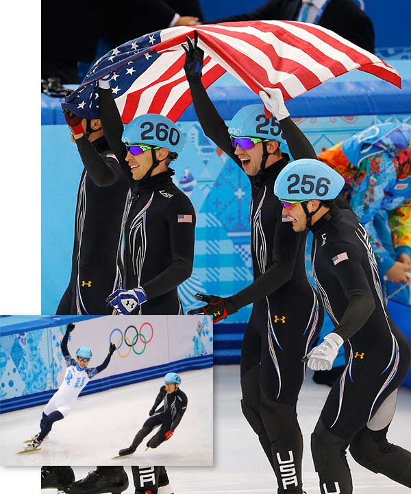 "<div class=""meta ""><span class=""caption-text "">Team USA wins Silver in 5,000m Short Track By BETH HARRIS  SOCHI, Russia (AP) - Viktor Ahn was already a Russian citizen. At the Sochi Olympics, he was embraced as a national hero by his adopted country.  Ahn clapped as he crossed the finish line after leading Russia to Olympic gold in the 5,000-meter relay. His countrymen applauded right back, cheering the speedy skater who delivered the nation's first medals in short track.  ""This will be the best Olympics in my life,"" he said in Korean. ""I will never forget it.""  Fittingly, Ahn capped his four-medal performance in Sochi with gold in the relay, a medal he wanted the most as a way to unify the team he joined after forsaking his native South Korea.  ""I'm so happy to be able to smile in the end with my teammates,"" he said.  His former teammates weren't nearly as happy. The South Korean men's team left Sochi without a single medal.  Ahn won two golds on Friday's final night of short track to tie retired star Apolo Anton Ohno for the most career Olympic medals in the rough and tumble sport with eight. Ahn won four golds at the 2006 Turin Games, and added a bronze and three golds in Sochi.  Ahn clinched the relay by taking the lead for good after passing American J.R. Celski with eight laps to go. Earlier in the evening, he won the 500, the only event Ahn had never won in two Olympics.  ""He just shows he is the best guy in the world, definitely here,"" Ohno said. ""He's got eight medals, six gold. Perhaps the best ever to put short track speed skates on. Yeah, I would say so.""  Ahn held his own news conference in the wee hours of Saturday morning, explaining that he waited until the end of short track to address the long-asked questions about why he left South Korea.  The 28-year-old Seoul-born skater switched nationalities in 2011 after competing for South Korea as Ahn Hyun-soo in Turin. A career-threatening knee injury in 2008 and multiple surgeries kept him from producing results for his skating club and he didn't have enough time to qualify for the 2010 Vancouver Games.  Ahn's team soon disbanded and other teams were already full, leaving him at a loose ends  ""I was feeling bad and sad,"" he said. ""My goal was to participate in another Olympics.""  The shy redhead eventually found a new home in Russia. South Korea law prevents men from holding dual citizenship, so he had to find a new national identity, too.  ""I made a decision and I have no regret,"" he said. ""I would like to thank Russia.""  Ahn carefully avoided saying much about his former South Korean teammates during the games out of respect to them. He said he and his father have argued about inaccurate interviews the elder man has given about his son's departure.  ""I don't want there to be too much controversy in Korea about me,"" he said.  Ahn revealed that the thin gold band on his left ring finger was a wedding ring. He said he hasn't yet had a ceremony with his girlfriend, but the couple obtained a marriage certificate in South Korea.  Before leaving him alone with the media, Ahn's teammates credited him for boosting short track's profile in Russia, where it was a little known sport before the Olympics.  ""He's pushing us forward and we grow with him,"" skater Semen Elistratov said.  Added Ruslan Zakharov, ""Viktor has a lot to show to us and every competition we learn from him.""  Aleksei Kravtsov, president of the Russian speedskating federation, said tickets were sold to short track practice for the first time and the competition was shown live on national television.  ""The Olympic Games have given a great boost to short track in Russia because of his brilliant performance,"" Kravtsov said. ""His presence will continue to boost our sport.""  The decibel level inside Iceberg Skating Palace was higher for Ahn than it had been a night earlier when Adelina Sotnikova became the country's first gold medalist in women's figure skating in the same building.  ""So many people supported me,"" Ahn said.  The mostly Russian crowd chanted the first name of their adopted star as he mounted the top spot on the medal podium twice in a row at the end of the night.  American J.R. Celski skated head-to-head with Ahn in the relay and came away impressed.  ""Everybody in short track should give that guy credit, and they do,"" he said.  The relay got off to a chaotic start with China and the Netherlands crashing not even halfway through the opening lap. It became a two-nation race between Russia and the U.S. for most of the 45 laps.  Chris Creveling briefly put the U.S. in front with 15 laps left, overtaking Vladimir Grigorev. But Ahn rallied his teammates to victory.  Eddy Alvarez, Celski, Creveling and Jordan Malone took silver for the first U.S. medal in speedskating at the Sochi Games. The U.S. speedskaters were shut out in 12 long track events, and had failed to get on the podium in the first seven short track races.  The medal helped the Americans avoid a shutout for the first time since 1998 in Nagano.  China overcame the early trouble to take bronze.  Earlier, Ahn rallied to win the 500, overtaking Wu on the last lap after Liang Wenhao of China crashed out. It was the only Olympic race Ahn had never captured, and he became the first skater to win a career sweep of all four Olympic short track events.  ""It was Ahn's clinic on how to short track speedskate tonight. He wrote a textbook,"" Ohno said of Ahn's 500 race.  Ohno, now retired and working as a TV commentator at the games, had been confident that Ahn would tie his record set from 2002-2010.  Ahn gave Russia its first medal in the sport by earning bronze in the 1,500 on the opening day of competition in Sochi. He later won the 1,000.  Wu earned silver in the 500 and Charle Cournoyer of Canada took bronze.  In the women's 1,000, Park Seung-hi of South Korea won her third medal of the games. (AP/Vadim Ghirda)</span></div>"
