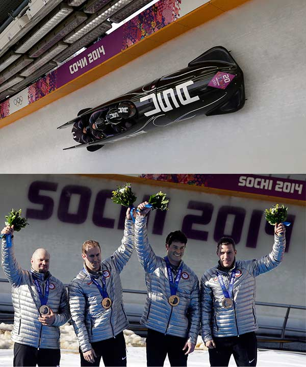 Team USA wins Bronze in Four-man Bobsled By TIM REYNOLDS  KRASNAYA POLYANA, Russia &#40;AP&#41; - Alexander Zubkov was given a daunting assignment for his home Olympics. His task: Take to Russian ice and make history, against drivers who have been beating him for years.  Do svidaniya, world!  Zubkov was uncatchable.  He drove Russia to victory in the four-man bobsled race Sunday, adding that gold to his two-man from earlier in the Sochi Games and making him the sixth pilot to sweep those events at an Olympics. Until now, no one had ever achieved that feat on home ice, but this track was built for Zubkov and he proved to be its master.  &#34;We did the impossible,&#34; Zubkov said.  He made it look easy. Against the world&#39;s best like Latvia&#39;s Oskars Melbardis and American recordsetter Steven Holcomb.  Melbardis of Latvia drove to the silver medal, matching his nation&#39;s best showing in a Winter Olympic event. And Holcomb, the 2010 four-man champion from Park City, Utah, piloted USA-1 to bronze, ceding his Olympic title but winning his third career medal - tying the most by any U.S. bobsledder - and giving his nation seven sliding medals at the Sochi Games, tops among all countries.  &#34;We came here to win a medal and we did just that,&#34; Holcomb said. &#34;It was a tough race. It wasn&#39;t easy. We kind of knew Zubkov was going to be fast and really hard to beat and the Latvians had a great day today and pulled away, but to come away with a bronze medal, we&#39;re pretty happy with it. It was a tight race and we&#39;re pretty satisfied.&#34;  Zubkov had a slim lead entering Sunday&#39;s final two runs and predicted the title would be decided in the third heat.  Naturally, he was right. That&#39;s where he got all the cushion he needed.  Zubkov, with push athletes Alexey Negodaylo, Dmitry Trunenkov, Alexey Voevoda in his sled, took one look at the standings after the leaders finished their third runs, clenched a fist and punched the air.  He knew it was over.  &#34;It means a great deal to be able to win in Russia,&#34; Zubkov said.  A 39-year-old driver who hadn&#39;t won a single two- or four-man race all season on the World Cup circuit was perfect in Sochi. Zubkov wound up 0.09 seconds faster than Melbardis, who was 0.30 seconds up on Holcomb.  &#34;I talked to Zubkov a couple years ago and asked him the first day he slid, and he told me he was 6 years old,&#34; said U.S. bobsledder Justin Olsen, a push athlete in the USA-2 sled piloted by Nick Cunningham that finished 12th. &#34;So he&#39;s been sliding for 33 years. Holcomb&#39;s been sliding since 2001.&#34;  Melbardis came on strong this season, and Latvian sliding looks like it&#39;s positioned to be a power for years to come.  Just not gold-medal good. Yet.  &#34;I think he was just better,&#34; Melbardis said of Zubkov. &#34;That&#39;s it.&#34;  Hey, no one else was better than Melbardis. He had plenty to celebrate.  In turn, so did Holcomb, who got his gold at Vancouver four years ago to end a 62-year drought for the U.S. in that race. He also won two-man bronze in Sochi, ending a 62-year medal drought for the Americans in that discipline. So now, he became the first American pilot to win medals in both Olympic races in ... yep, 62 years.  &#34;These guys had a tremendous second push and kept us in there,&#34; Holcomb said, referring to his team, which was racing together for the last time.  Holcomb was joined in the sled by Curt Tomasevicz of Shelby, Neb., Steve Langton of Melrose, Mass., and Chris Fogt of Alpine, Utah. For Tomasevicz and Langton, it was their second Olympic medals. Fogt won his first.  Afterward, Tomasevicz said what many expected him to say: He&#39;s retiring, and thought this was the perfect way to go out.  &#34;This was it for me,&#34; said Tomasevicz, a gold medalist four years ago. &#34;I can&#39;t imagine walking out on a better note, even a gold medal four years from now. The way we fought for the last four years, the way the competition got better for the last four years, crossing that finish line was maybe the greatest moment I&#39;ve felt in a bobsled. It&#39;s pretty epic.&#34;  The bronze didn&#39;t come easily, with only 0.03 seconds separating third from fourth. But when the Americans crossed the line, a medal clinched, a big celebration began.  Ever since winning the gold in Vancouver, Holcomb has fought the notion that he&#39;s only good on North American tracks.  His bronze in Russia not only disproved that theory, again, but also ensured that Germany - perennially the world&#39;s top sliding nation - would be shut out of the medals in four-man for the first time since 1968. Germany was dominant in winning five medals in luge to lead off the Sochi Games, then left skeleton and bobsled empty-handed.  &#34;We wanted gold,&#34; Holcomb said. &#34;But we&#39;re not complaining about bronze.&#34; <span class=meta>(TIM REYNOLDS)</span>