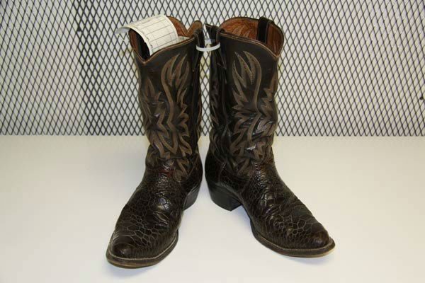 "<div class=""meta image-caption""><div class=""origin-logo origin-image ""><span></span></div><span class=""caption-text"">George Lovell, 49, of Las Vegas was arrested for allegedly selling a pair of Loggerhead sea turtle leather boots for $1,000. The arrests are a result of Operation Cyberwild, a task force investigation that led to the arrests of 10 people in California, as well as two individuals in Nevada. (United States Department of Justice/Central District of California)</span></div>"