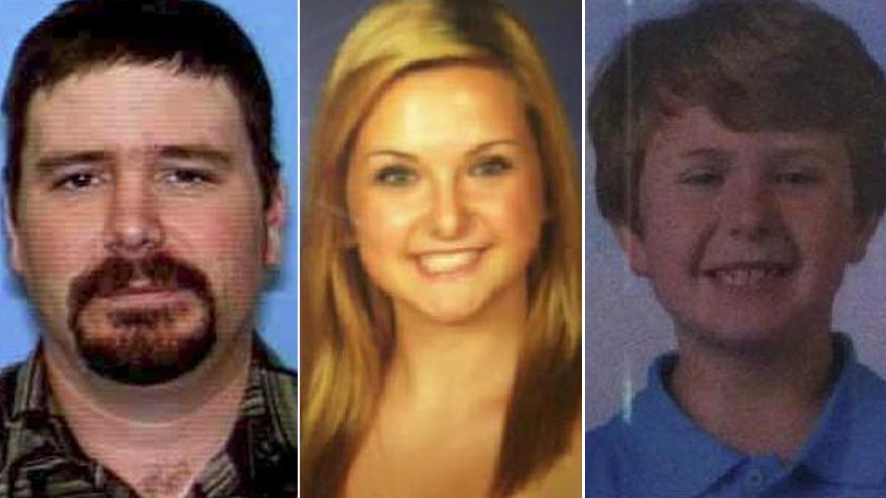 James DiMaggio, 40, Hannah Anderson, 16, and Ethan Anderson, 8, are seen in these undated photos. The two minors are missing, and authorities say DiMaggio may have abducted them.