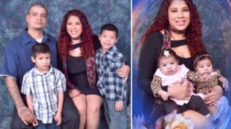 Enrique Felix and Rose Chairez are seen with their two sons and twin girls in these photos provided by the LAPD.