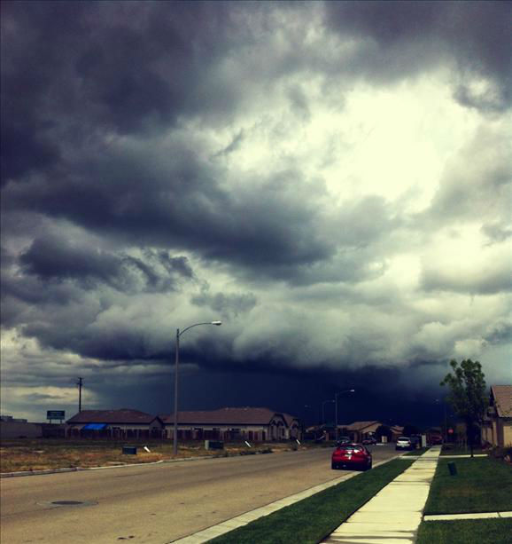 Storm in Lemoore <span class=meta>(KFSN Photo&#47; uReport)</span>