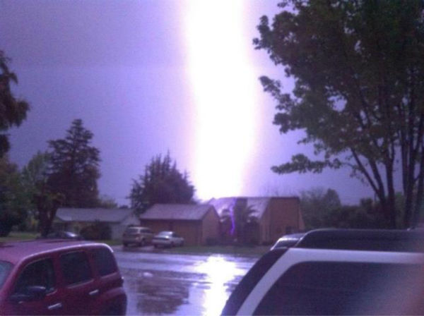 Now that is some Lightning! My dad took this picture with his iPhone! <span class=meta>(Jeff Moosios)</span>