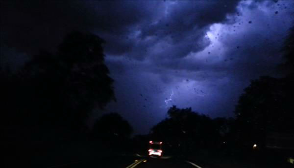 Took these on my drive home from Prather around 9:30 pm. Lots of lightening, rain and hail. Nice way to end our Easter celebration.  <span class=meta>(KFSN Photo&#47; uReport - Abril A. Garcia)</span>