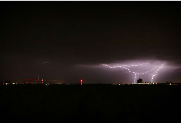 Lightning Show 3&#47;30&#47;13 -- Shots of the lightning from the storm. <span class=meta>(KFSN Photo&#47; uReport - ipete)</span>