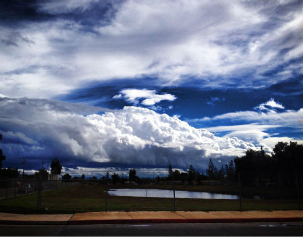 Clovis clouds <span class=meta>(KFSN Photo&#47; Facebook &#47; Andrew Garza)</span>