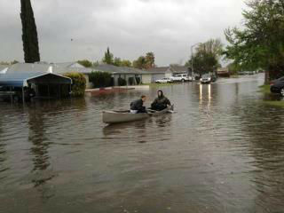 This photo came from a viewer in Atwater. This is Shafer Road. <span class=meta>(KFSN Photo&#47; uReport)</span>