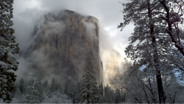 El Capitan in Yosemite National Park on Monday morning, February 13, 2012. <span class=meta>(KFSN Photo)</span>