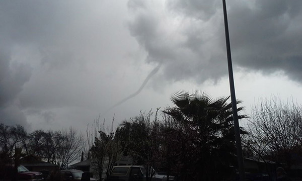 Funnel cloud in Dos Palos <span class=meta>(Facebook &#47; Krista Bryant)</span>