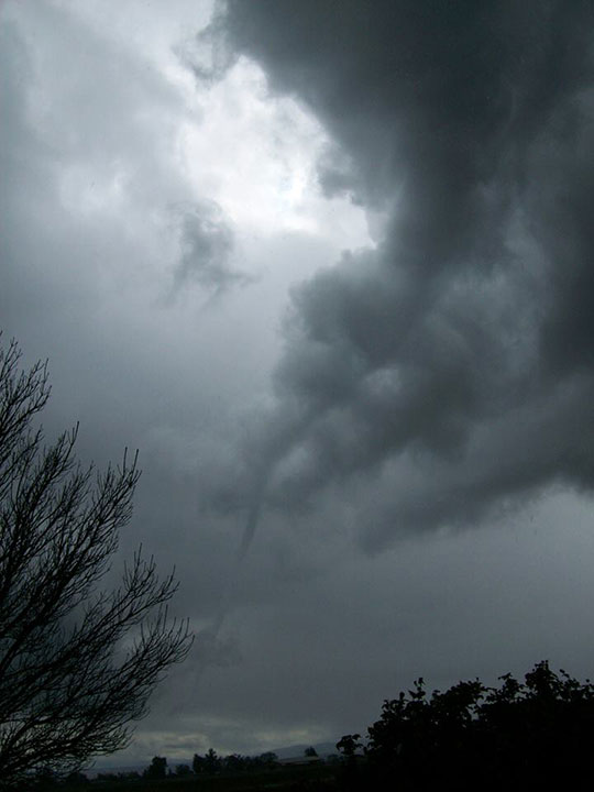 Funnel cloud in Dos Palos <span class=meta>(Facebook &#47; Megan Westbrook)</span>