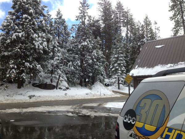 ABC30 van at Shaver Lake <span class=meta>(KFSN Photo)</span>