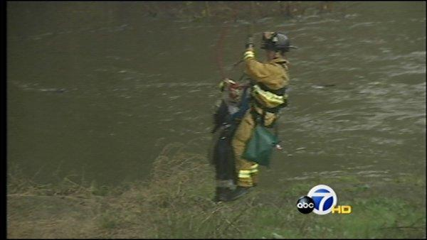 Storm Watch: River rescue in San Jose