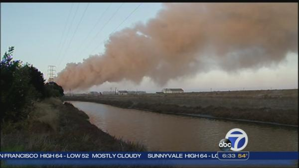 Advisory lifted for fire at plant in Redwood City