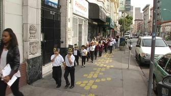 kids going to school in the Tenderloin