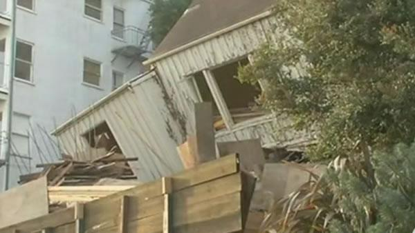Collapsed home owned by SF port commissioner