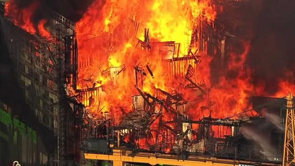 5-alarm fire burns in San Francisco's China Basin