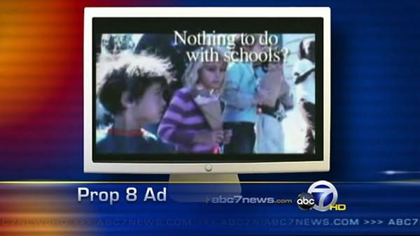 Parents outraged after kids shown in Prop 8 ad