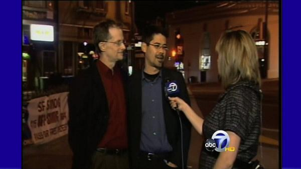 'No on 8' supporters talk with ABC7