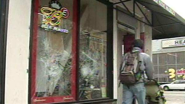 Oakland businesses vandalized by rioters