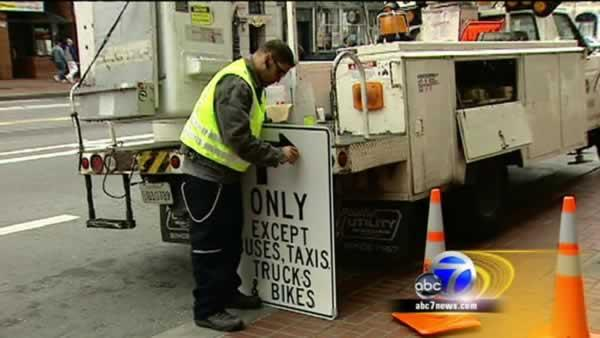 SF begins Market Street traffic experiment