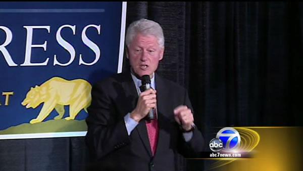 Clinton talks health care while in the Bay Area