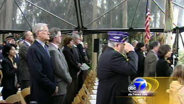 Pelosi honors vets at the Presidio