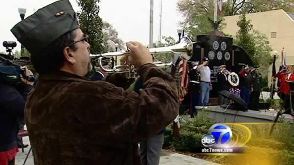 Veterans honored at Tracy war memorial