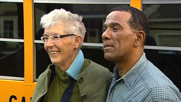 Bus driver rescues woman off railroad tracks
