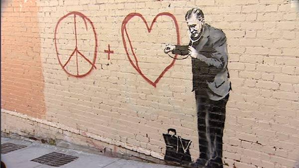 Famous graffiti artist Banksy may be painting in SF