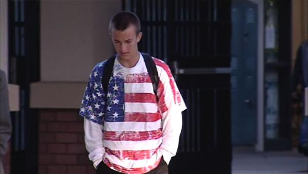 Students sent home for wearing American flag shirts