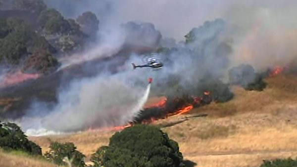 Season's first local wildfire burned near Mt. Diablo