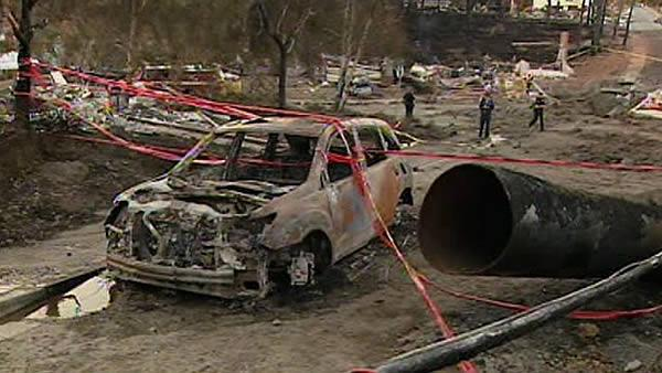 Inside the fire zone: Tour of devastated area