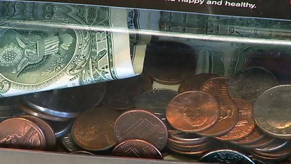 Coins in the donation jar, who gets the tax deduction?