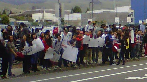 Students in Union City protest budget cuts