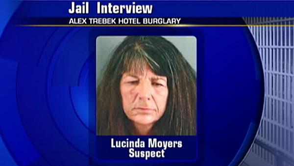 Burglary suspect denies she stole from Trebek