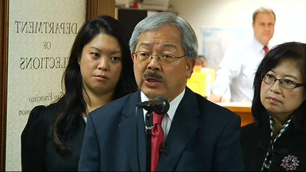 Ed Lee announces run for SF mayor