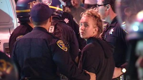 Police make arrests in BART protest