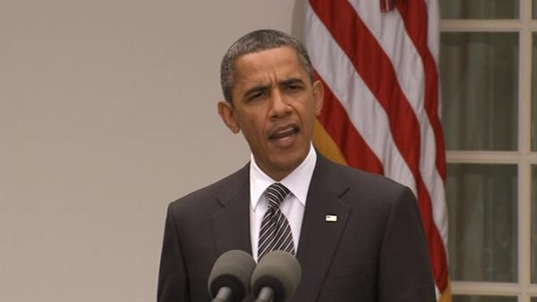 President Obama speaks about Gadhafi's death