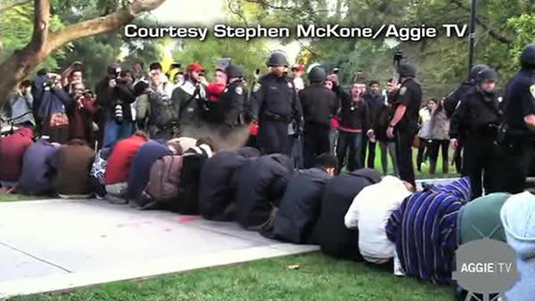 Occupy protesters in Davis get pepper sprayed