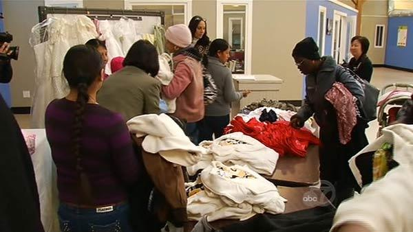 Confiscated clothes donated to families in need