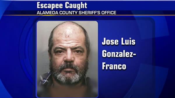 Inmate caught after escaping Santa Rita Jail
