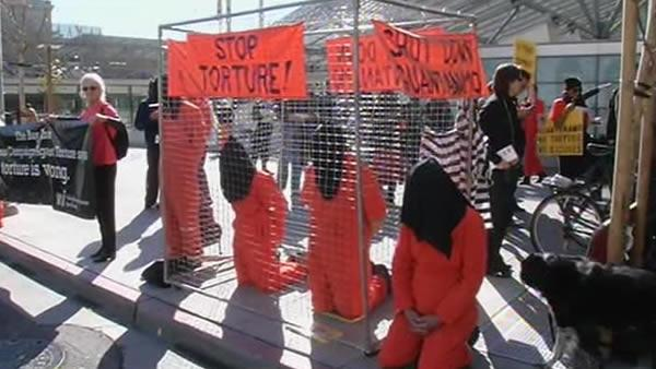 Vigil held for 10th anniversary of Guantanamo Bay