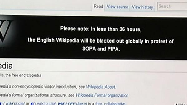 Wikipedia to black out Wednesday in protest