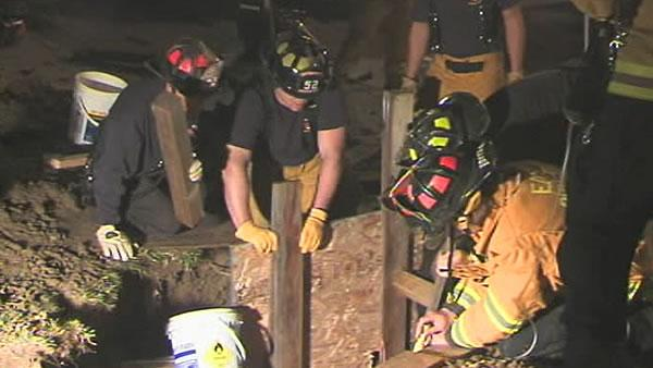 Man rescued from trench collapse in Brentwood