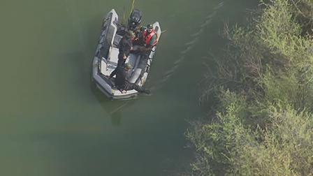 Searchers look around waterways in Morgan Hill