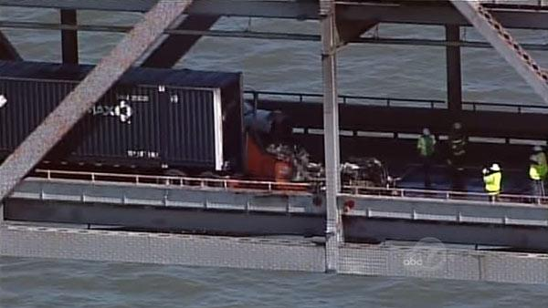 Richmond San Rafael Bridge inspected after truck fire